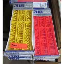 "Qty 5 Boxes Davson 318 1"" Letter Sets"