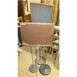 Qty 3 Metal Event Boards w/ Pedestal Stands