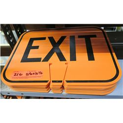 """Qty Approx. 14 Signs: Orange EXIT 12.5""""x10.5"""""""