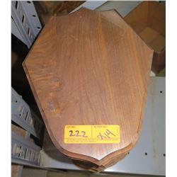 Qty 14 Shield Shape Wooden Plaques