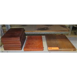 Qty 8 Wooden Rectangle Plaques, Misc Sizes