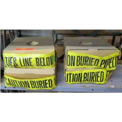 Qty 4 Boxes Yellow Caution Buried Pipeline Below Safety Tape