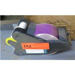 Dispenser w/ 90' Roll White on Magenta Tape 8580