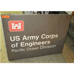 """Sign: US Army Corps of Engineers Pacific Ocean Division 41""""x31"""""""