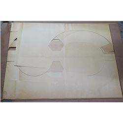 """Qty 5 Large Cut-Out Number Stencils 36""""x22"""""""