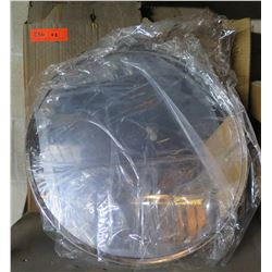 """Qty 2 Rounded Convex 18"""" Mirrors in Box"""