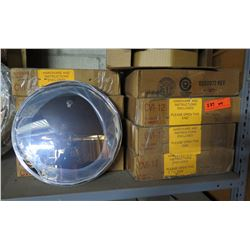 """Qty 9 Rounded Convex 11"""" Mirrors in Box"""