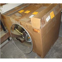 """Qty 7 Rounded Indoor 26"""" Convex Mirrors in Box CVI-26 SK-26P"""