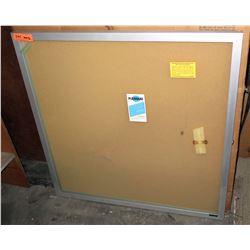 """Plexiglas Silver Framed Locking Slatted Changeable Letter Boards 36""""x36"""""""