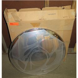 """Rounded 26"""" Convex Mirror in Box"""