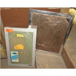 """Qty 2 Plexiglas Silver Framed Slatted Changeable Letter Boards 12""""/15""""W"""