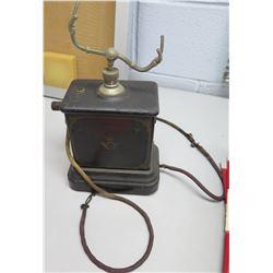 Vintage Wooden Telephone Cradle