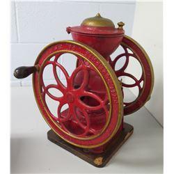 Vintage Philadelphia PA Red Manual Coffee Grinder