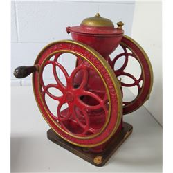 Vintage Philadelphia PA Red Manual Coffee Grinder