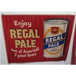 """Vintage Sign: Enjoy Regal Pale Beer 37""""x21"""""""