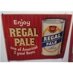 "Vintage Paper Sign: Enjoy Regal Pale Beer 37""x21"""