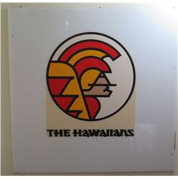 "Sign: The Hawaiians w/ Warrior Design 30.5"" Diameter"