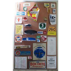 "Sign Board: Ali'is, Keahou Kona Hawaii, Box-Crete, The Plaza, etc 44""x28"""