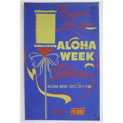 Vintage Paper Sign: Aloha Week Ribbon $1
