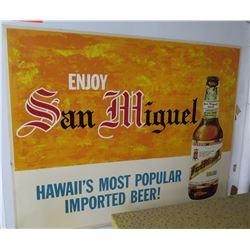 "Sign: Enjoy San Miguel Beer 27""x21"""