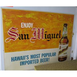 "Paper Sign: Enjoy San Miguel Beer 27""x21"""