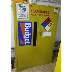 """Metal Yellow Flammable 2-Door Storage Cabinet 43""""x18""""x65"""""""