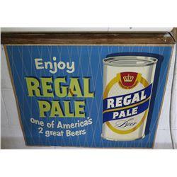 "Vintage Sign: Enjoy Regal Pale Ale Beer 37""x21"""
