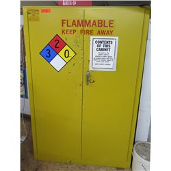 "Metal Yellow Flammable 2-Door Storage Cabinet 43""x18""x65"""