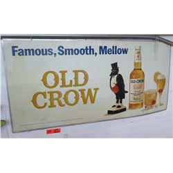 """Vintage Metal Sign: Famous, Smooth, Mellow Old Crow 44""""x21"""""""