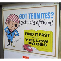 """Vintage Sign: Find it Fast in the Yellow Pages 37""""x22"""""""