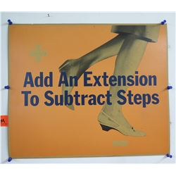 "Vintage Sign: Add An Extension To Subtract Steps 17""x14"""