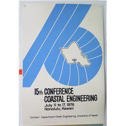 "Vintage Sign: Coastal Engineering 1976 Conference 25""x17"""