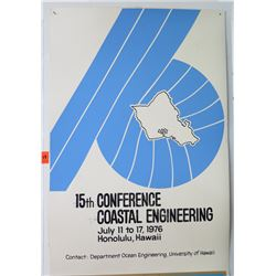 "Vintage Paper Sign: Coastal Engineering 1976 Conference 25""x17"""