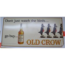 "Vintage Paper Sign: Go Buy Old Crow 44""x21"""