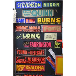 Vintage Bumper Sticker Collage: Fasi, Gov. Quinn, Sam King, etc