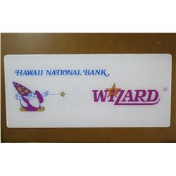 "Sign: Hawaii National Bank Wizard 24""x11"""