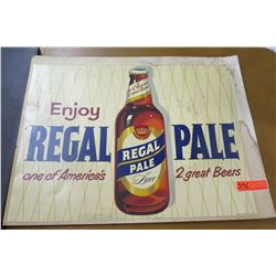 "Vintage Sign: Enjoy Regal Pale Beer  27""x22"""