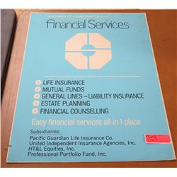 Vintage Paper Sign: Pacific Guardian Life Financial Services 22:x28""