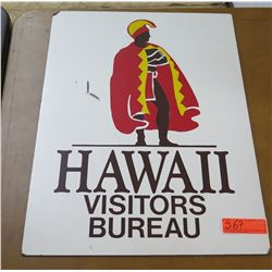 "Sign: Hawaii Visitors Bureau Member 18""x24"""