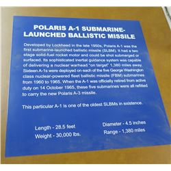 "Paper Sign: Polaris A-3 Submarine Launched Ballistic Missile 24"" x 24"""