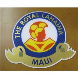 "Round Sign: The Royal Lahaina Maui 15"" Diameter"