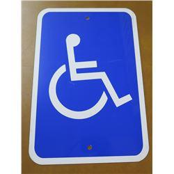"Sign: Handicap Wheelchair Access Logo 18""x12"""
