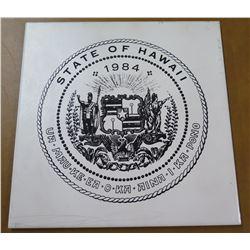 Ceramic Tile: State of Hawaii 1984 Ua Mau Ke Ea O Ka Aina I Ka Pono