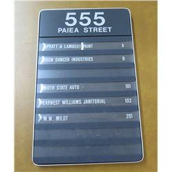 "Wall Mount Organizer Sign Paiea Street 10""x15"""