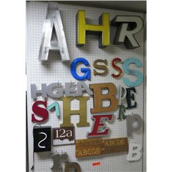 Alphabet Lettering Misc Sizes & Materials (pegboard not included)