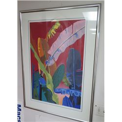 """12-Color Screen Printed Serigraph, Hand-Signed by Balazs Szabo, 1987, 31""""x43"""" Framed & Matted"""
