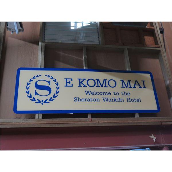 """S E Komo Mai Sign 64""""x24"""""""