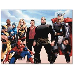 """Marvel Comics """"Siege #4"""" Numbered Limited Edition Giclee on Canvas by Oliver Coipel with COA."""
