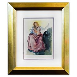 "Salvador Dali- Original Color Woodcut on B.F.K. Rives Paper ""Paradise 4"""