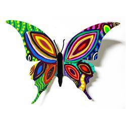 "Patricia Govezensky- Original Painting on Cutout Steel ""Butterfly CCLXXXVII"""